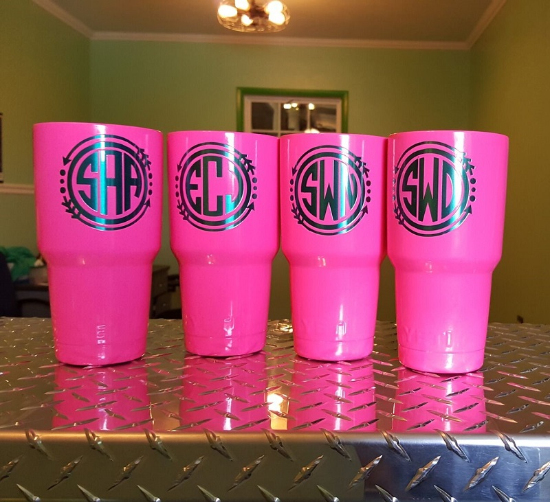 Hot Pink Custom Cup