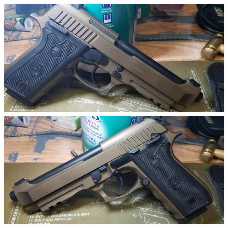 Pistol Cerakote Coated Custom Colors