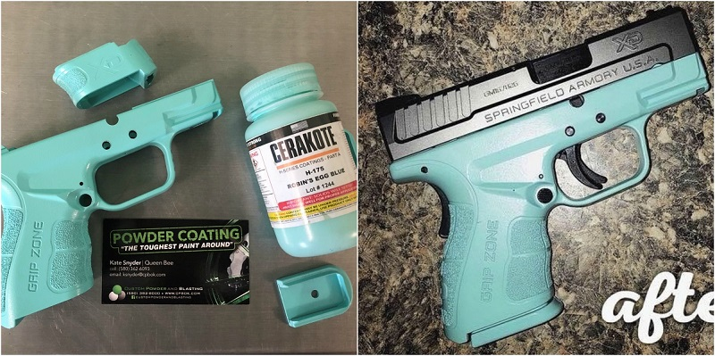 Tiffany Blue Gun Cerakote Coating